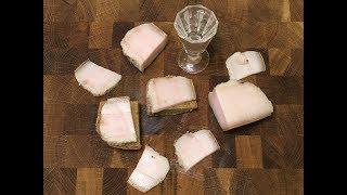 Соленое сало в вакуумном пакете.Сухой посол.Простой рецепт/How to  cook homemade bacon in vacuum bag