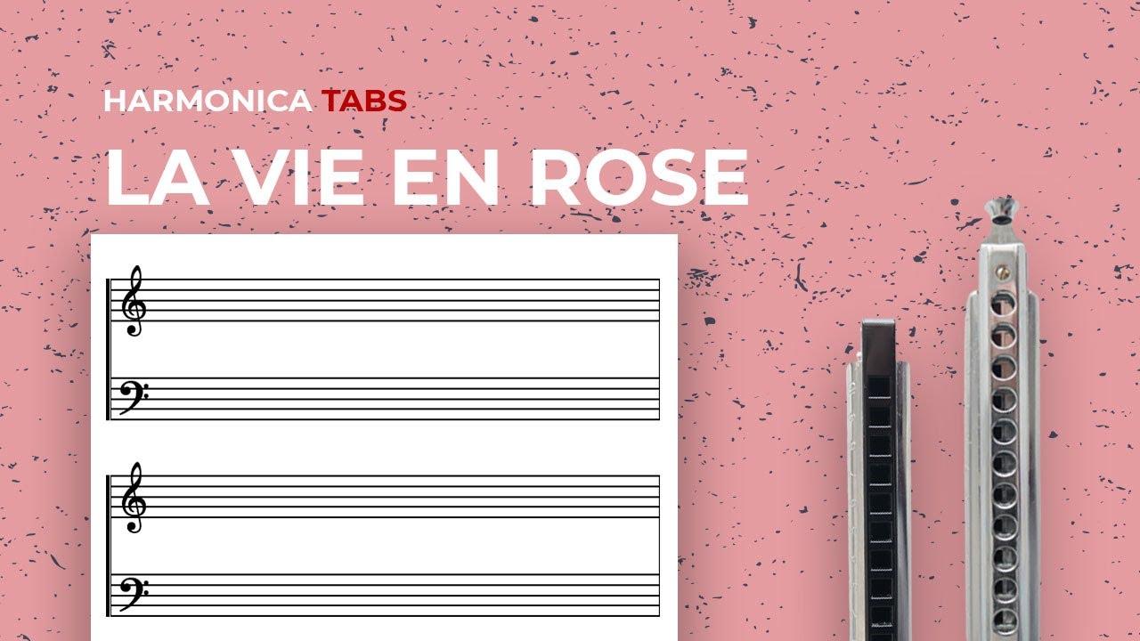 Easy chromatic harmonica songs: La vie en rose (midi)