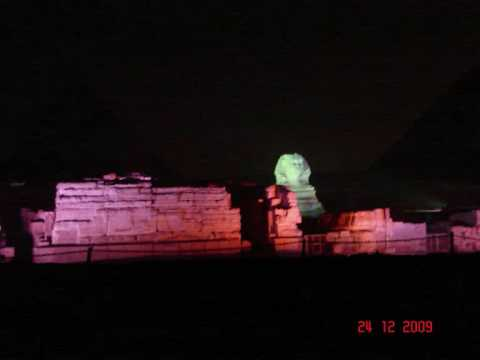 Sound & light show at the Pyramids in Giza (Cairo/Egypt)