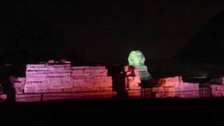 sound light show at the pyramids in giza cairo egypt