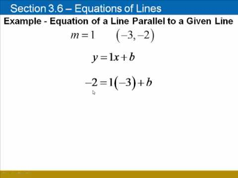 Finding Equations of Lines, Given a Parallel or Perpendicular Line ...
