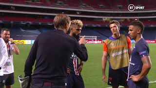 Thomas Tuchel gets into heated argument with the RB Leipzig fitness coach after the FT whistle