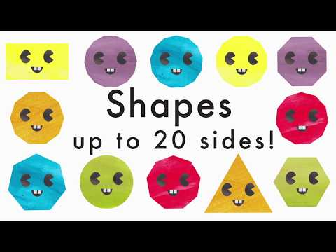 Learn Shapes With Up to 20 Sides - (Recognising Geometric Shapes)