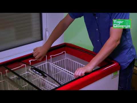 Видео морозильный ларь с прямым стеклом Juka на сайте Torgoborud.com.ua