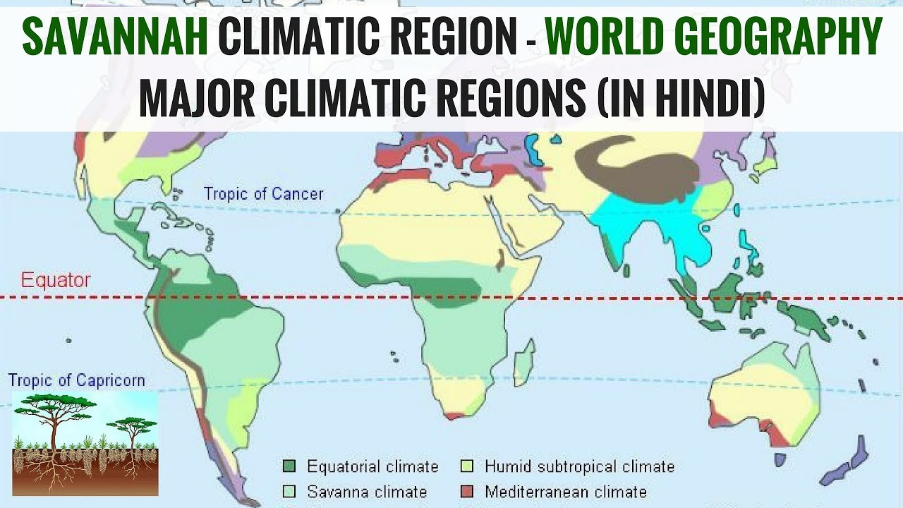 Savannah Climatic Region   World Geography Major Climatic Regions (in Hindi)
