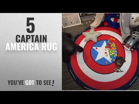 Top 10 Captain America Rug [2018]: INCX Kids Play Mat/Rugs and Toy Organizer Storage Cotton 58x58