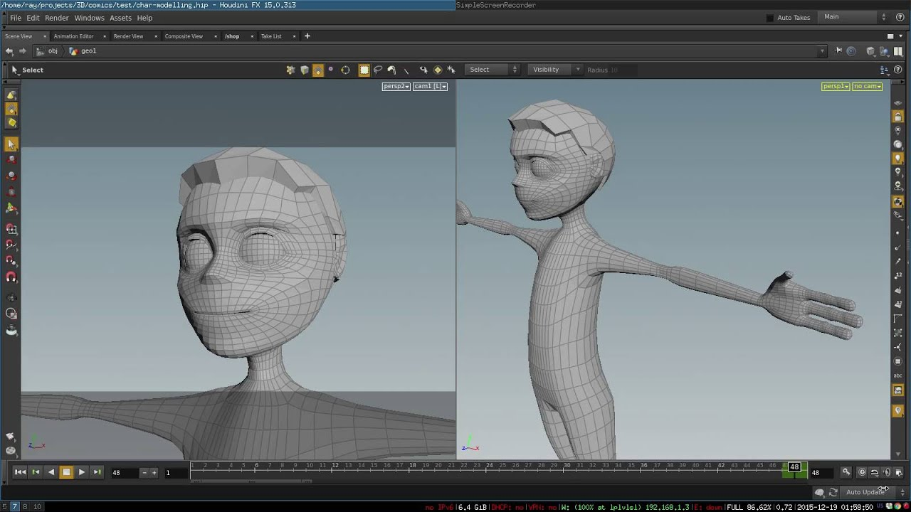 Modeling 3d Cartoon Character Topology Youtube