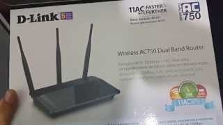 Roteador D-Link DIR 809 AC 750 MBPS  Dual Band 3 antenas 5 DBI 5 ANOS DE GARANTIA thumbnail