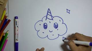 KannDana : Drawing for Kids coloring and drawing/how to draw Cloud /Cake