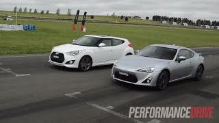 Toyota 86 vs Hyundai Veloster SR Turbo drag race смотреть