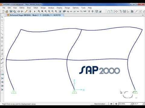 SAP2000 - 04 Mass and Modal Analysis: Watch & Learn