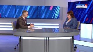 Смотреть видео Россия 24. Интервью с Натальей Адамовой. 16.01.2020 онлайн