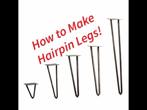 How to Make Hairpin Table Legs and Central Machinery Compact Bender Unboxing