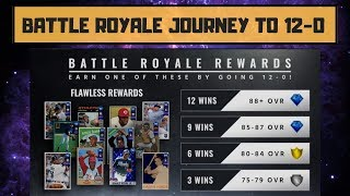 BATTLE ROYALE JOURNEY TO 12-0! NEW DRAFT AND GAME 1 MLB THE SHOW 18