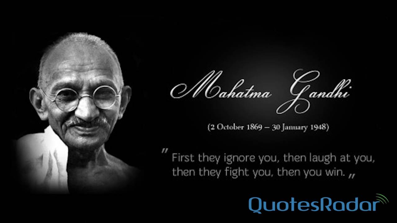 Mahatma Gandhi Quotes, Inspirational Thoughts to Live Life ...