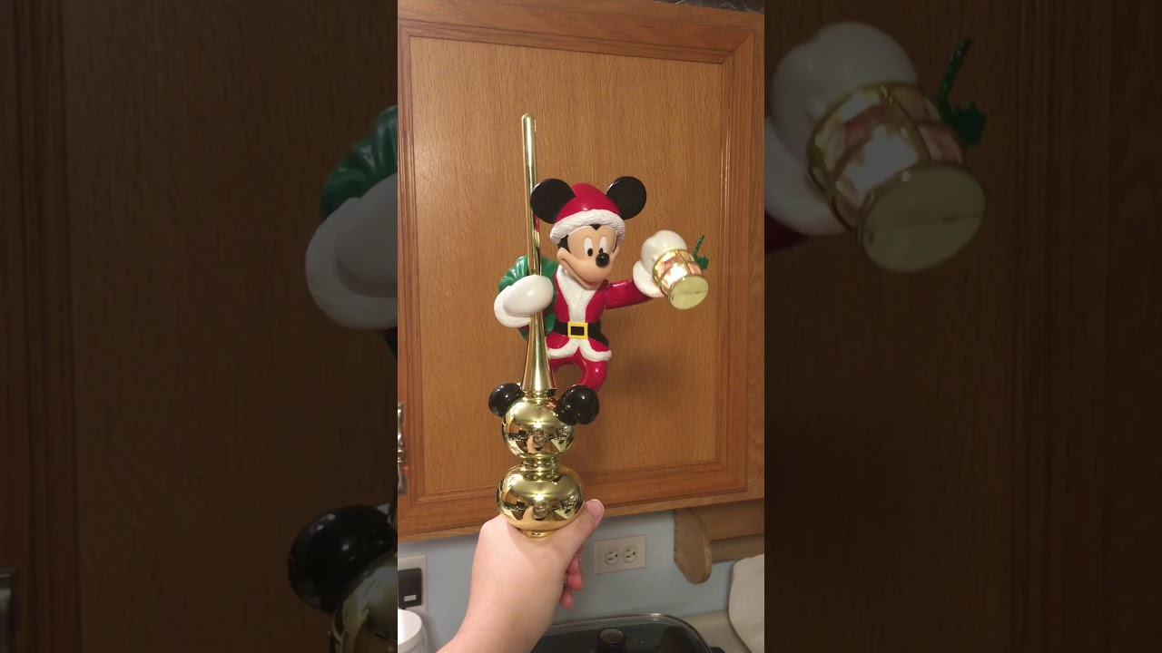 me christmas mickey mouse animated tree topper