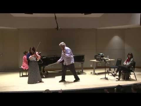 2016 Pinchas Zukerman violin masterclass | Classe de maître avec Pinchas Zukerman 2016