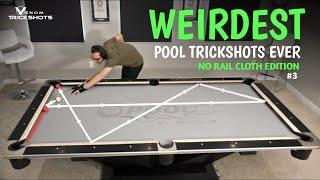 WEIRDEST POOL TRICKS EVER??! -- N๐ Rail Cloth Billiards #3 with Venom Trickshots