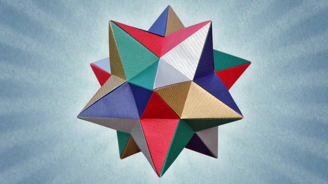 Origami lesser stellated dodecahedron meenakshi mukerji youtube jeuxipadfo Choice Image