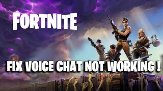 FIX Fortnite VOICE CHAT ! ( Voice Chat Not Working Fortnite FIX )