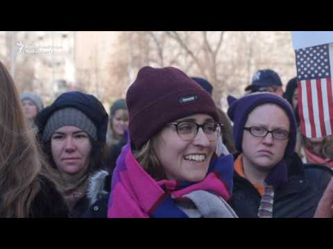 Czechs, Americans Demand Equal Rights in Prague
