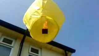 launching a chinese sky lantern