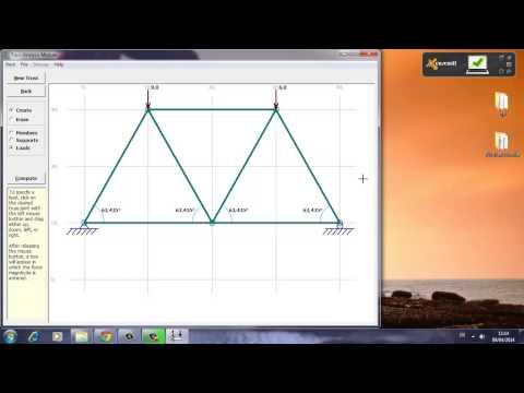 Formation MDSolids-logiciel de calcul des structures-Cours 1 (System en treillis isostatique)