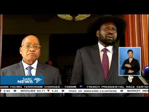 Salva Kiir visited President Zuma at the Union Building