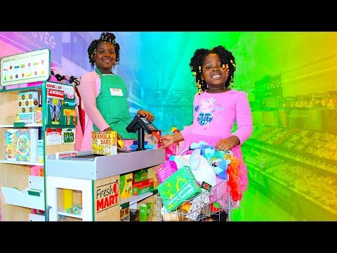 Fresh Market Grocery Store Fully Stocked Pretend Play Shopping Super Market Toy