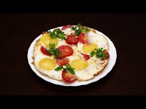 Яичница в мультиварке с помидорами