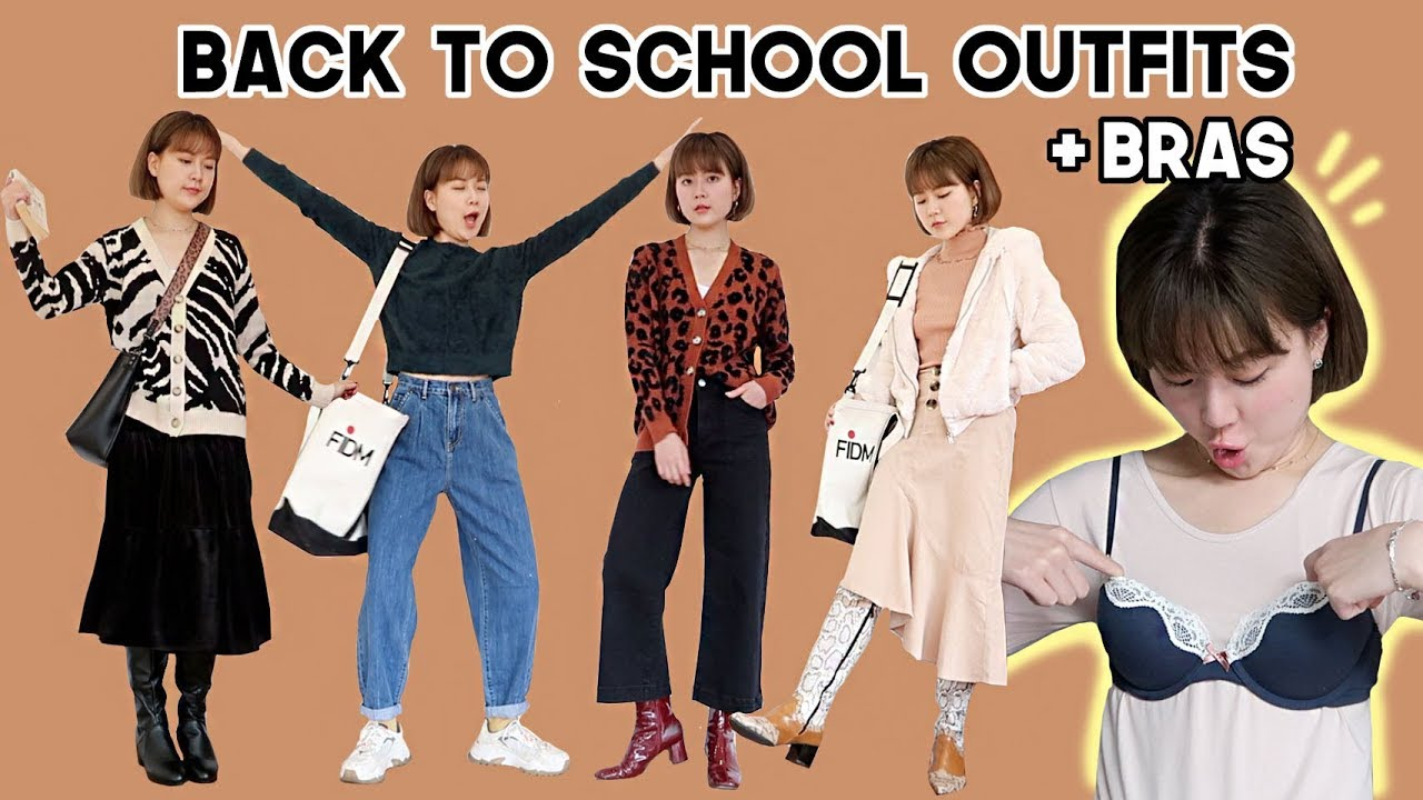 [VIDEO] - Back to School Casual Fall/Winter Outfits + Trying on Bras from 6IXTY8IGHT | Q2HAN 8