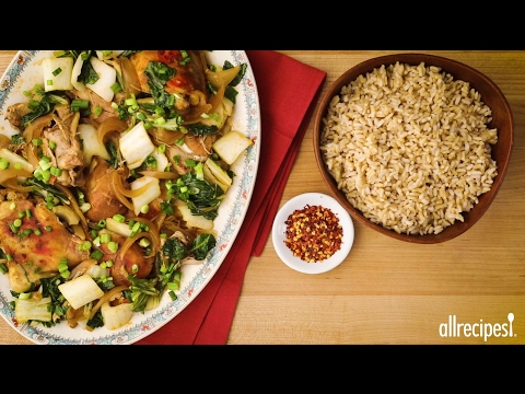 Slow Cooker Adobo Chicken with Bok Choy | Dinner Recipes | Allrecipes.com