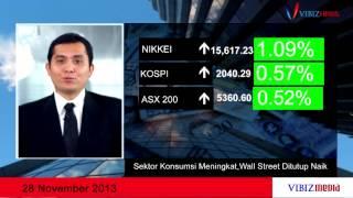 Sektor Konsumsi Meningkat, Wall Street Ditutup Naik, Vibiznews 28 November 2013