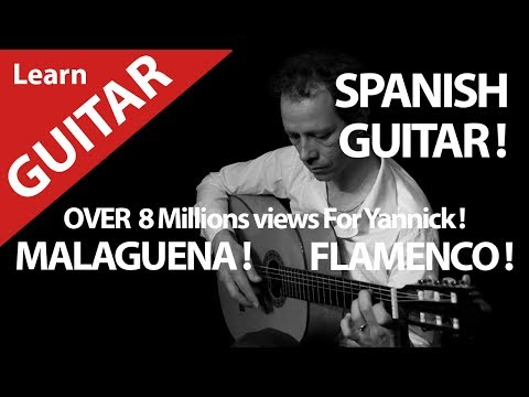SPANISH GUITAR WITH TUTORIALS TABS ? LEARN WITH MUSICIAN FLAMENCO MALAGUENA !