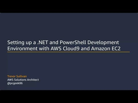 Setting Up a .NET and PowerShell Development Environment with AWS Cloud9 and Amazon EC2