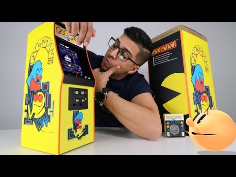 UNBOXING & LETS PLAY! - Pac-Man Quarter Scale Arcade Cabinet - Numskull
