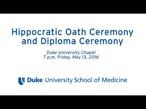 2016 Duke School of Medicine Hippocratic Oath Ceremony