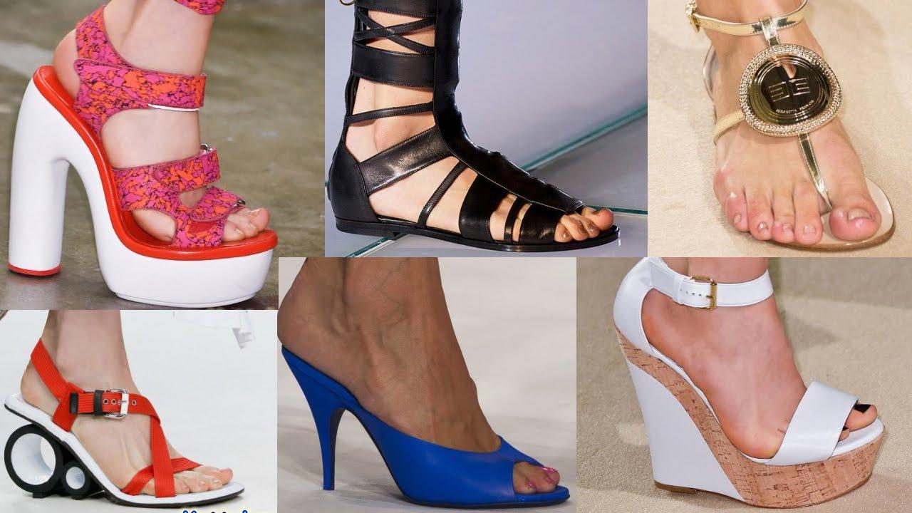 0fd49e378 Мода Обувь Весна Лето 2015 Милан Подборка - YouTube