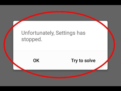 Fix Unfortunately Settings has stopped working in Android|Tablet