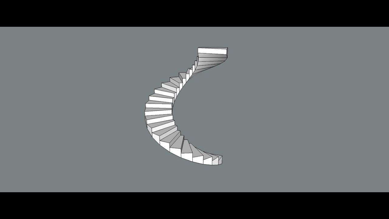 Sketchup Tutorial How To Make Spiral Stairs In Skecthup