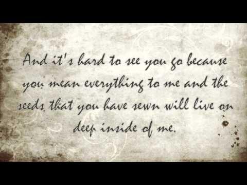 Tyrone Wells Let Go (lyrics)