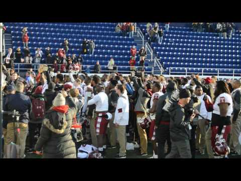 Temple Football -- Alma Mater following American Conference Championship win!