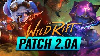 NEW UPDATE: Patch 2.0a Runḋown - Wild Rift (LoL Mobile)