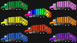 learn colours garbage trucks street vehicles teaching colors learning colors video for kids