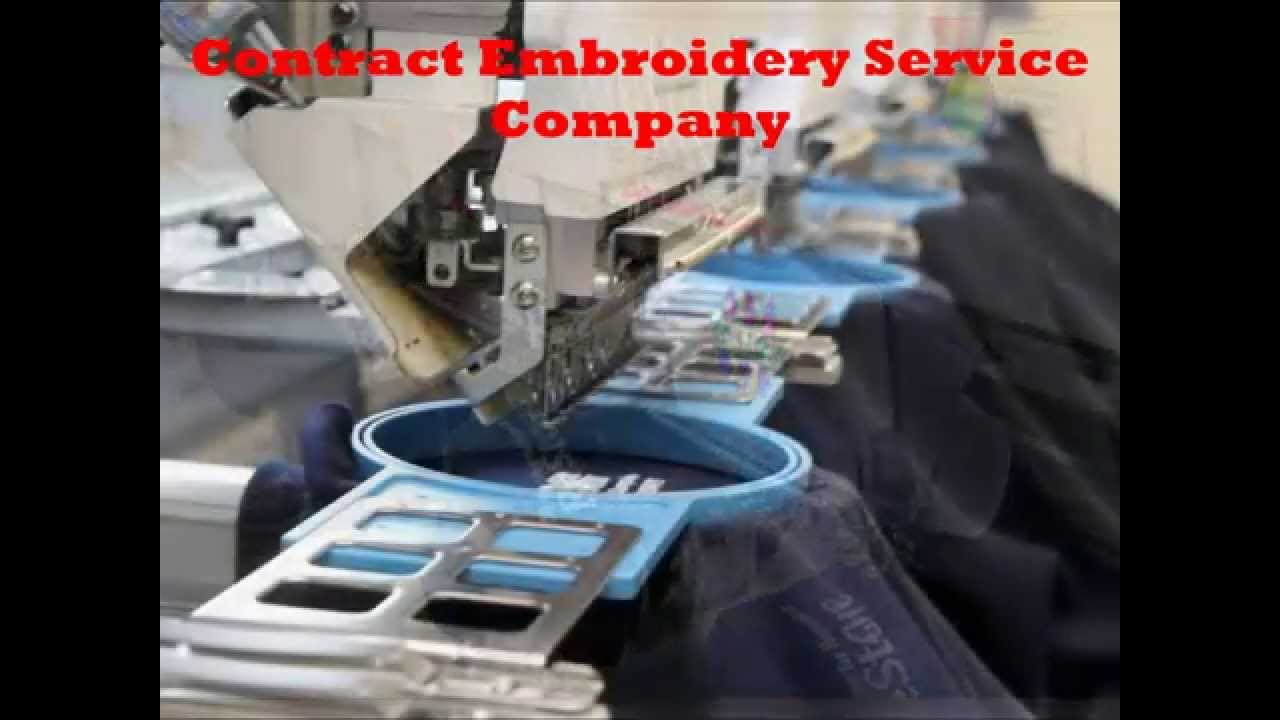 Contract Embroidery Service Company Youtube