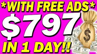 EARN $797 Per DAY Posting 🔥FREE ADS🔥Online - SUPER EASY - (MAKE MONEY ONLINE)