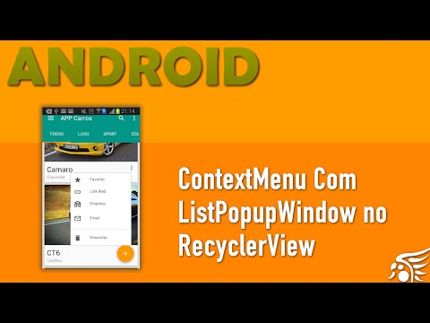 ContextMenu No RecyclerView. Material Design Android - Parte 17