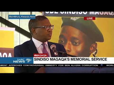 FULL SPEECH: Fikile Mbalula pays tribute to Magaqa