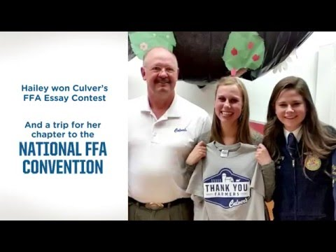 Culver's FFA Essay Contest Winners Trip to the 2015 National FFA Convention and Expo