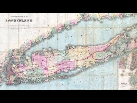 Long Island New York History and Cartograph (1880)
